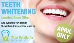 Dentist Teeth Whitening Offer April 2019